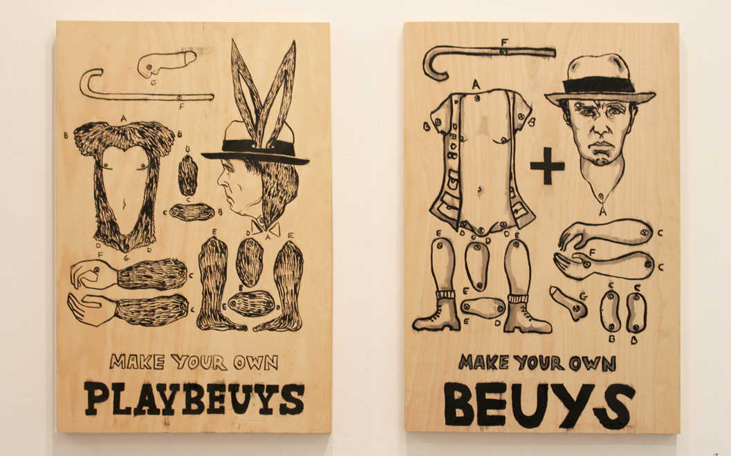 Erez Israeli, Beuys, Mixed media on plywood, 60x40 cm