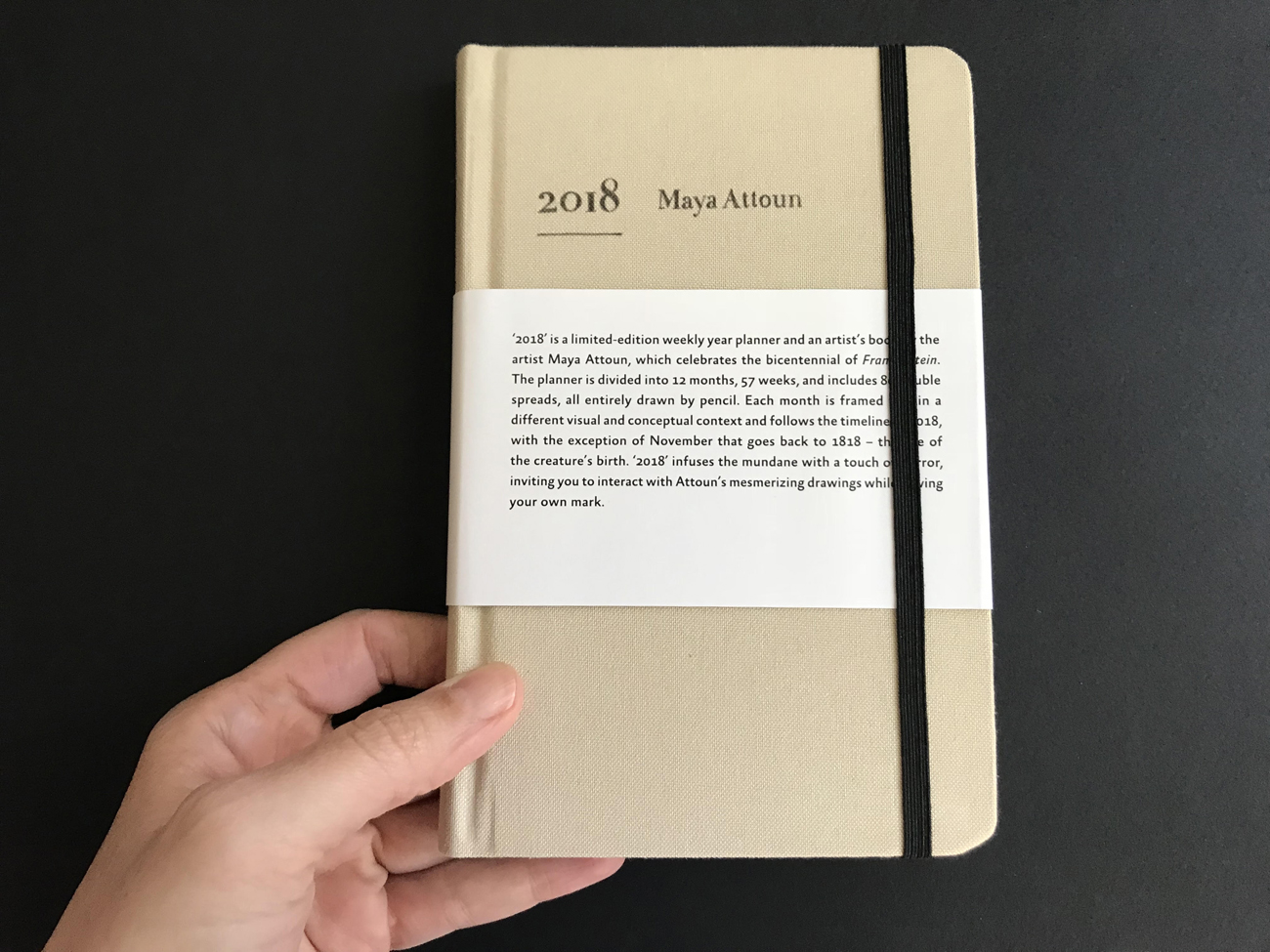 Maya Attoun 2018 weekly year planner and artist book