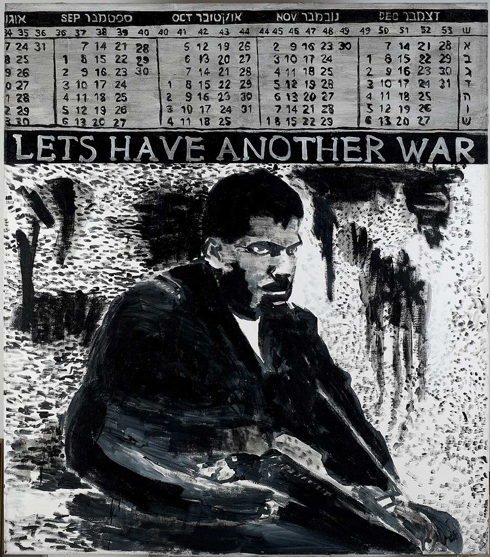 David Reeb, Let's Have Another War, 1997, acrylic on canvas, 160 x 140 cm