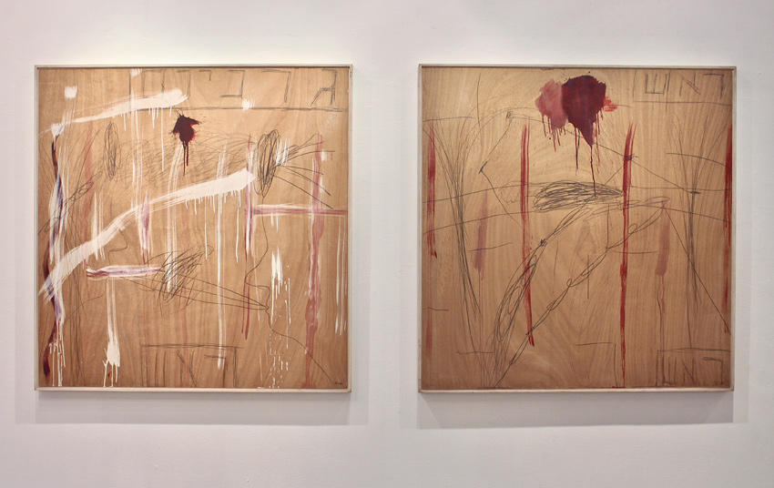 Raffi Lavie, Untitled (Assassination of Yitzhak Rabin), 1995, mixed media on plywood, 125 x 122 cm