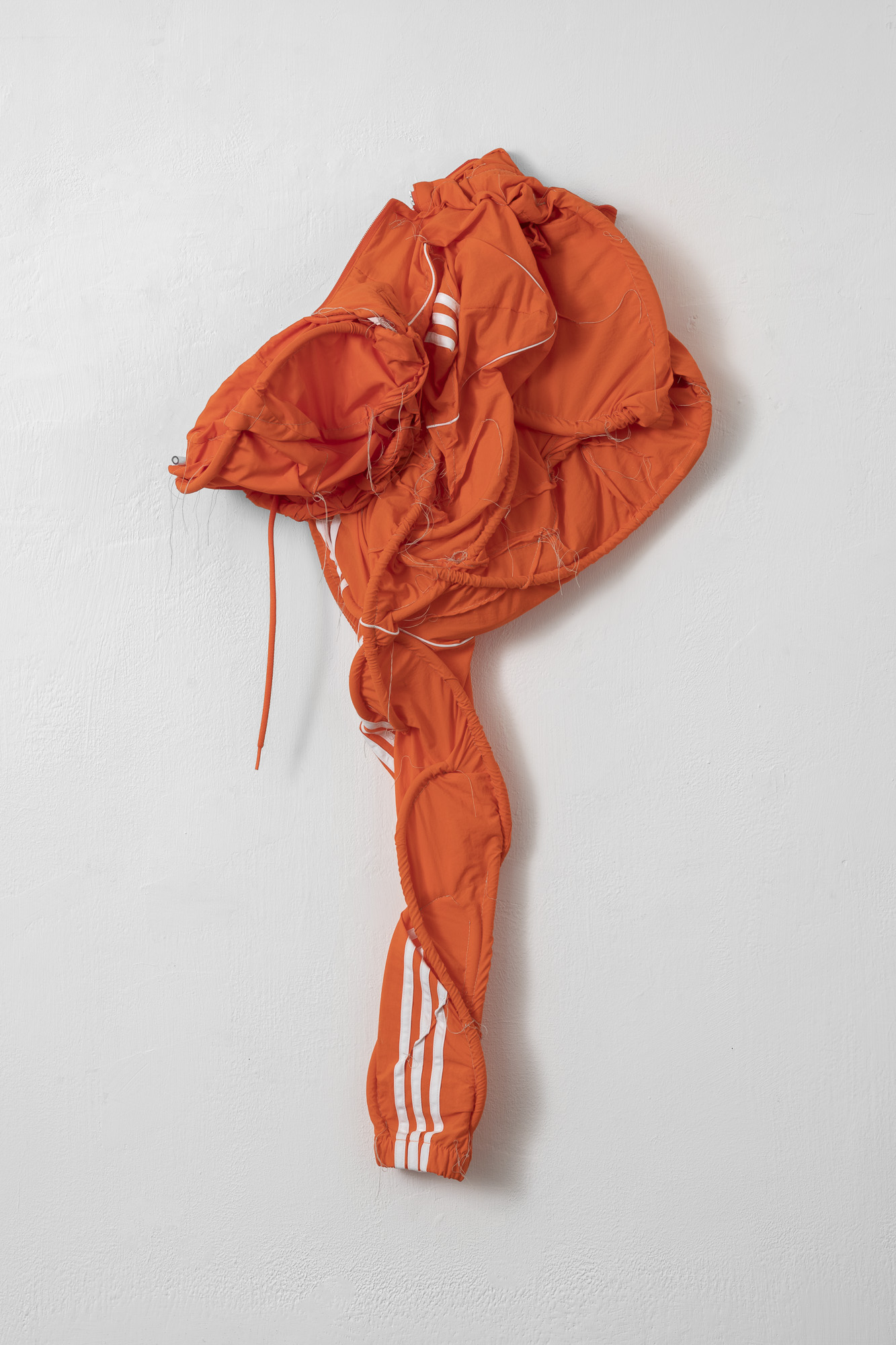 The Couple (I), 2019, jacket, thread, plastic
