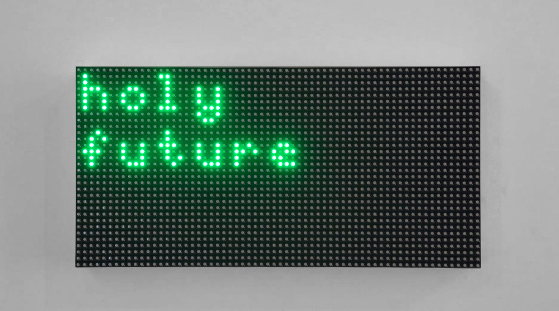 Oracle, sound installation, 2019 | Raspberry Pi, led panel, mp3 player, speakers, computer. 32 × 15.8 × 1.5 cm